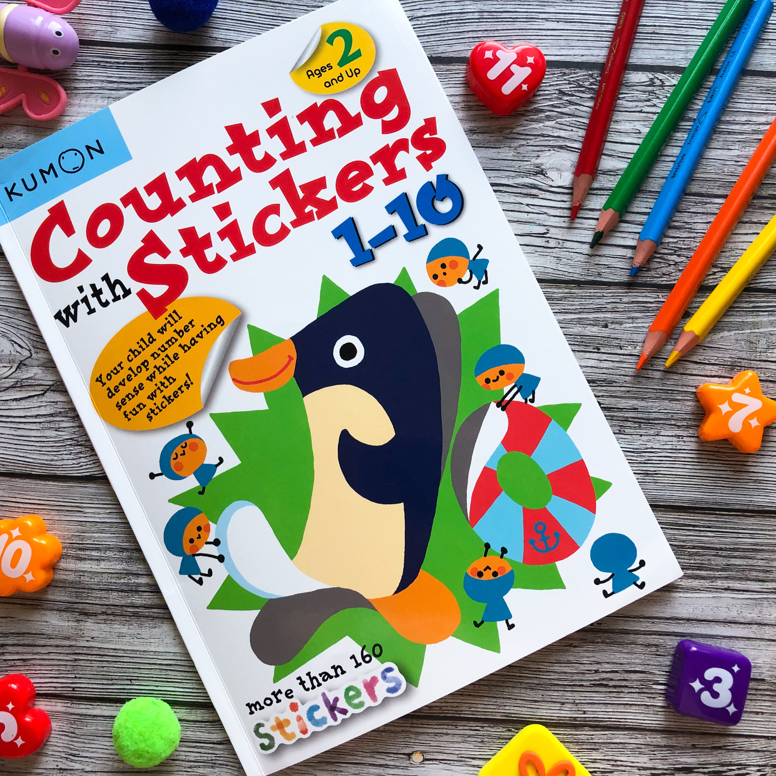 Наклейки Counting With Stickers 1 – 10