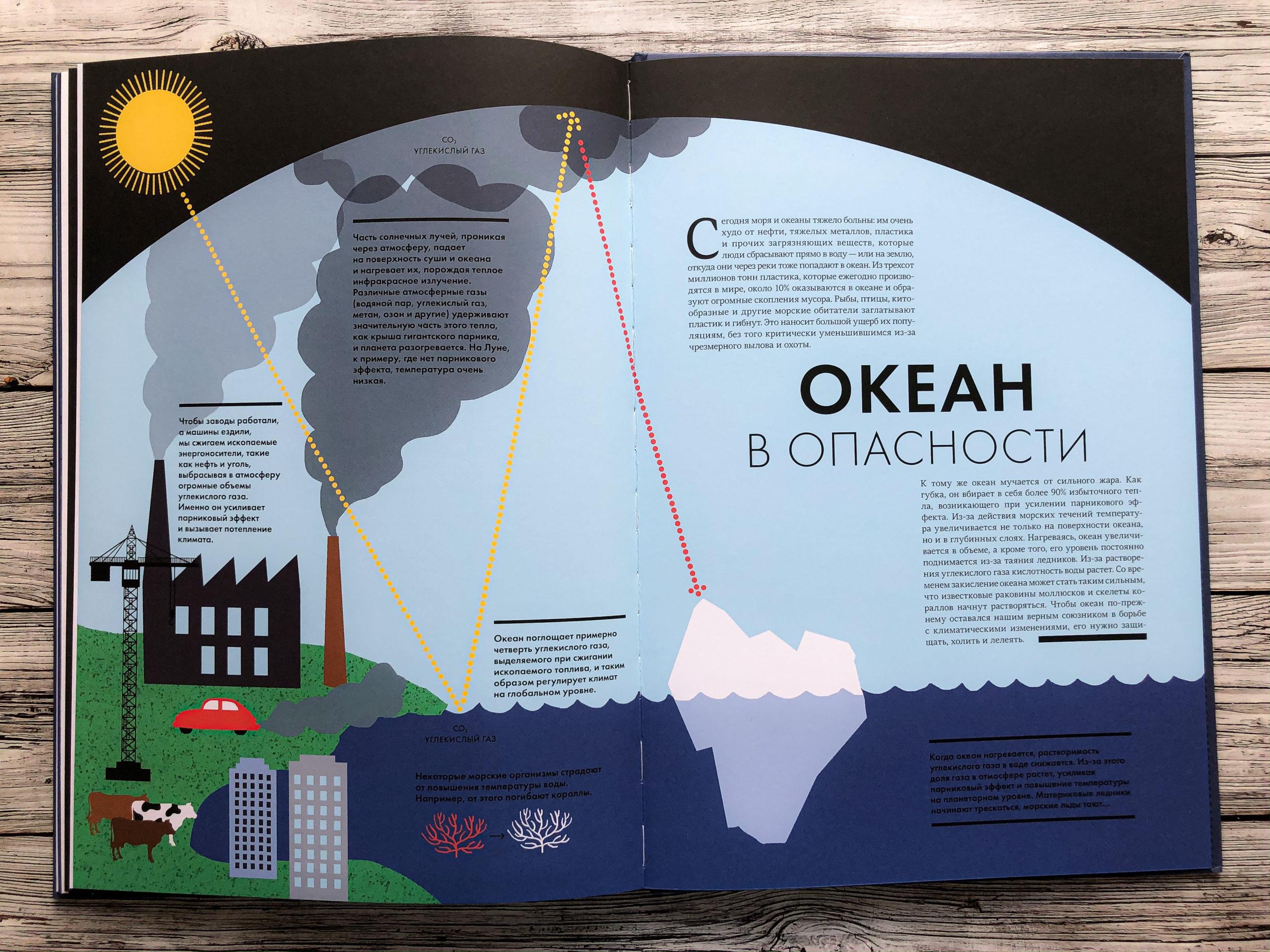 Нереально красивая книга Океан для захватывающих уроков естествознания 19