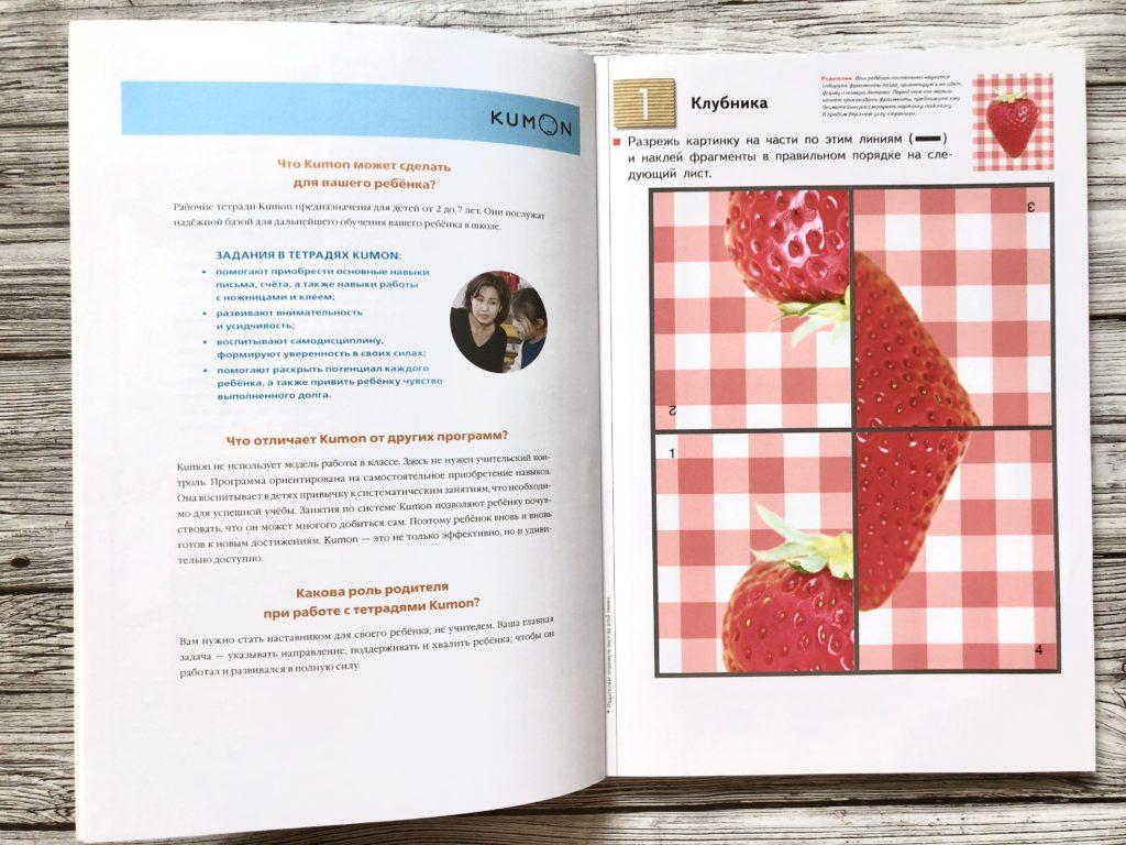 Тетрадь KUMON Пазлы-аппликации - Методика занятий по каждой странице 2