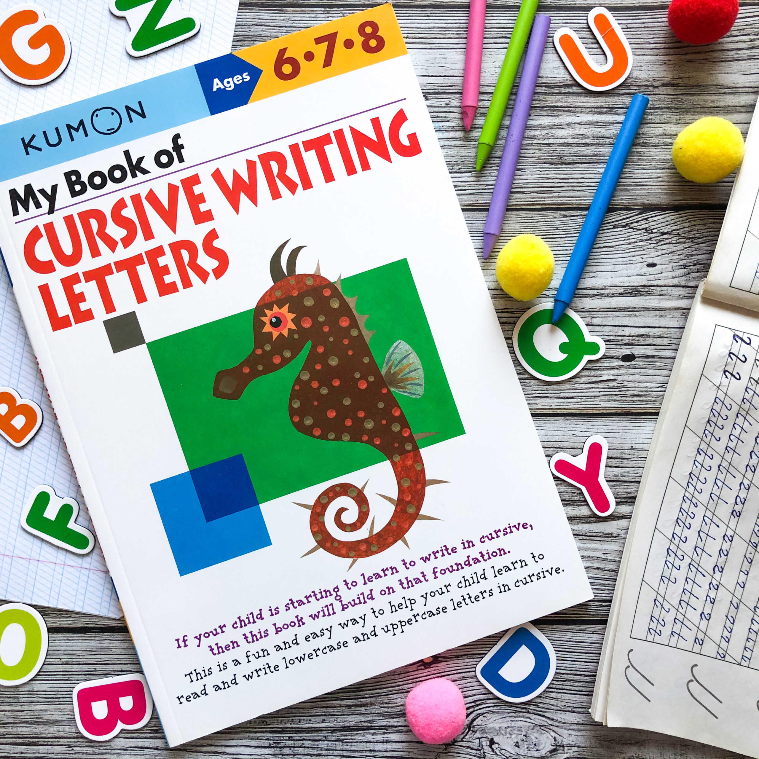 My Book Of Cursive Writing: Letters, 6-8