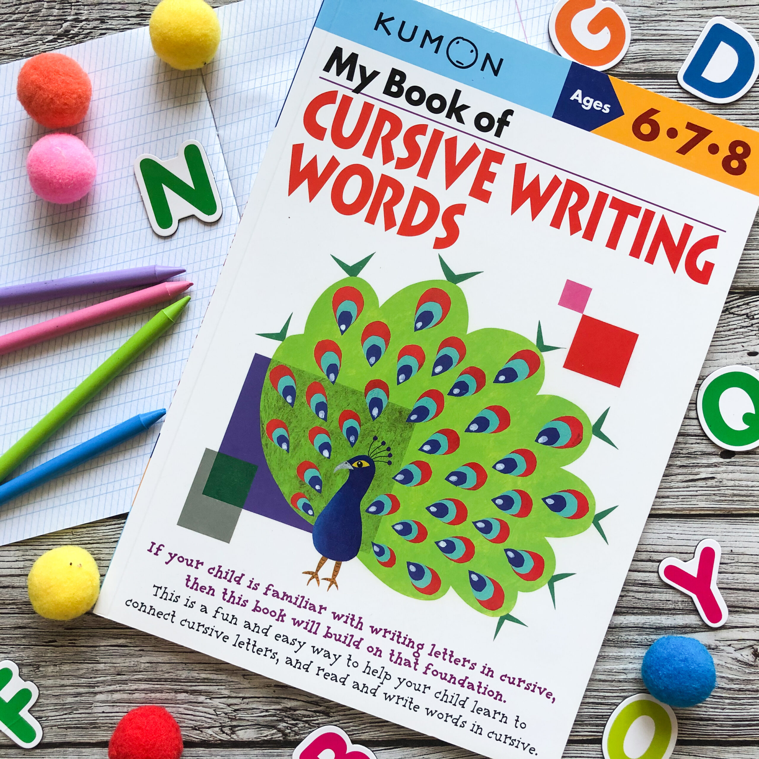 My Book Of Cursive Writing: Words, 6-8