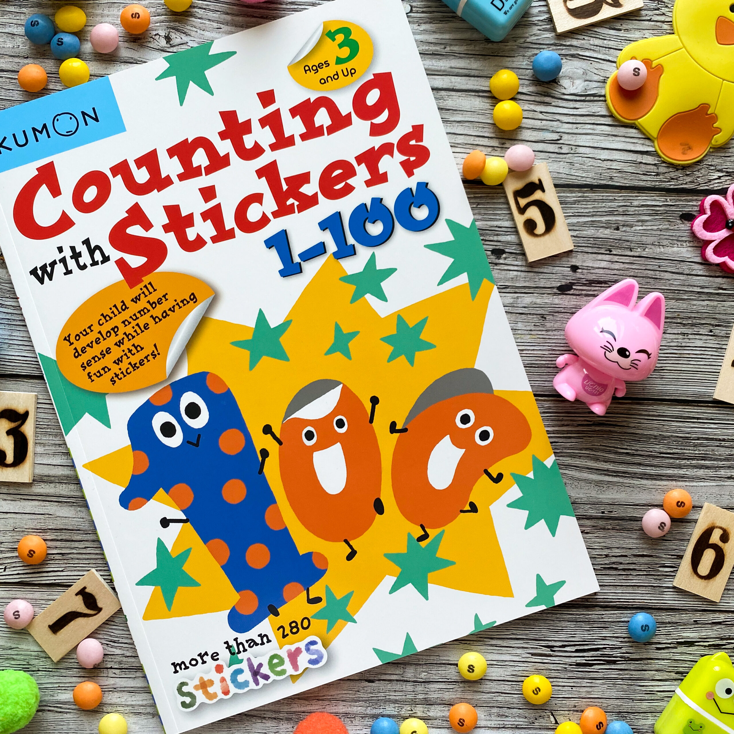 Наклейки Countng With Stickers 1 – 100