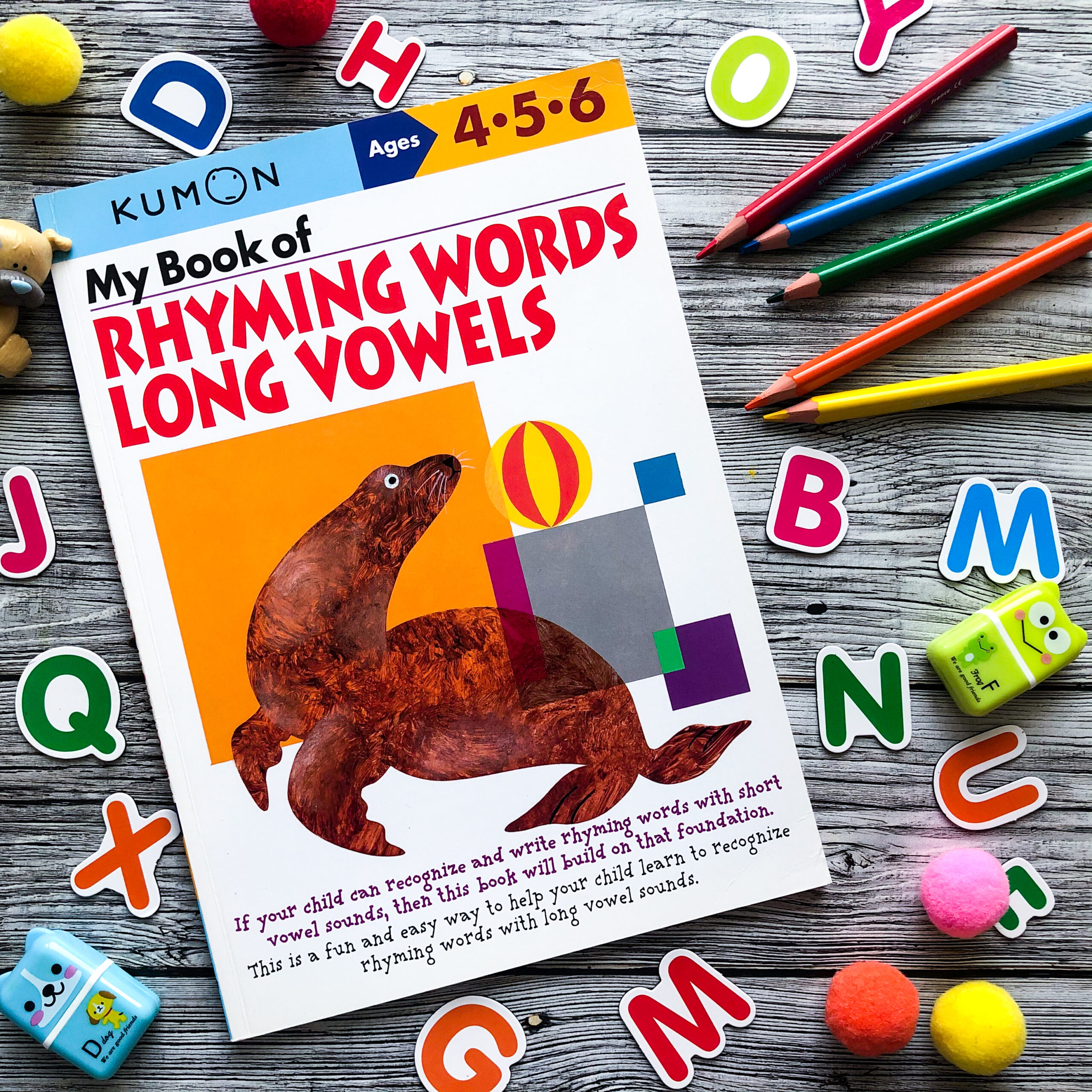 My Book of Rhyming Words: Long Vowels, 4-6 1